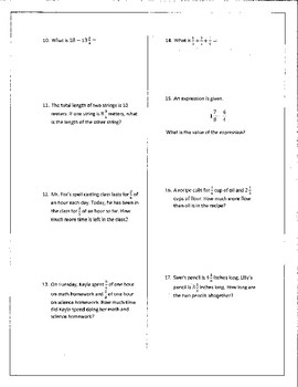 Adding and Subtracting Fractions (And Mixed Numbers) Review