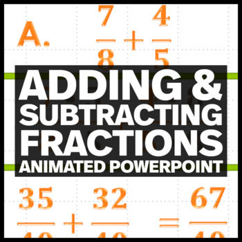 Adding and Subtracting Fractions Animated PowerPoint