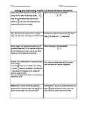 Adding and Subtracting Fractions Assessment