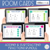 Adding and Subtracting Fractions BOOM Card Bundle | Distan