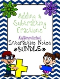 Adding and Subtracting Fractions BUNDLE PACK