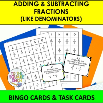 Adding and Subtracting Fractions Bingo