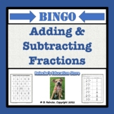 Adding and Subtracting Fractions Bingo (30 pre-made cards!