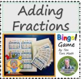 Adding Fractions Bingo! game activity
