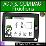 Adding and Subtracting Fractions Boom Cards