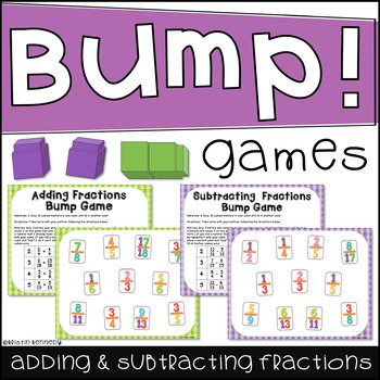 Adding and Subtracting Fractions Bump