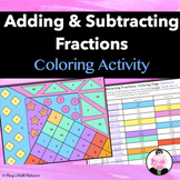 Adding and Subtracting Fractions: Coloring Page