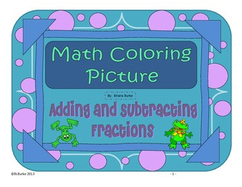 Differentiated CCSS Adding/Subtracting Fractions Word Prob