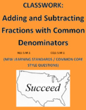 Adding and Subtracting Fractions (Common Den) New Learning