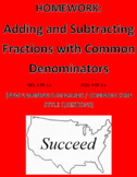 Adding and Subtracting Fractions (Common Den): New Learnin