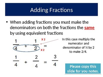 Adding and Subtracting Fractions Complete Lesson
