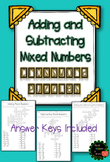 Adding and Subtracting Mixed Numbers Crossword Puzzle Activity
