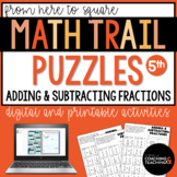 Adding and Subtracting Fractions Cut Solve Paste Activity