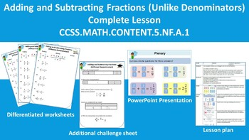 Adding and Subtracting Fractions (Unlike Denominators) Complete Lesson