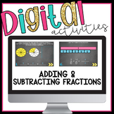 Adding and Subtracting Fractions Digital Activities for Google Classroom