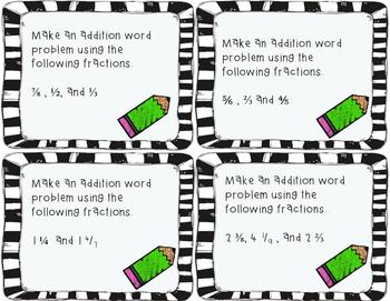 Adding and Subtracting Fractions Enrichment Activity TEKS 5.3K