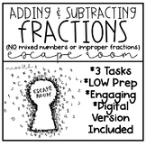 Adding and Subtracting Fractions Escape Room