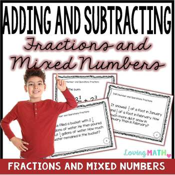 Adding and Subtracting Fractions and Mixed Numbers {FREEBIE}