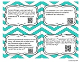 "Adding and Subtracting Fractions 'Find the Error"" QR Task Cards"