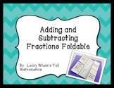 Adding and Subtracting Fractions Foldable