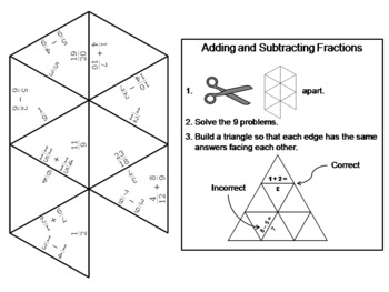 photo regarding Adding and Subtracting Fractions Game Printable named Including And Subtracting Fractions Online games Worksheets TpT