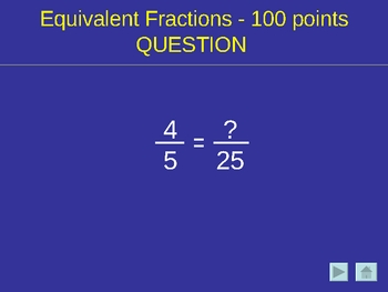 Adding and Subtracting Fractions Game like Jeopardy (R)