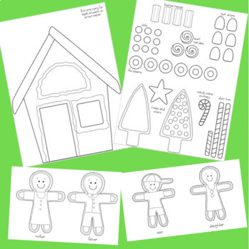 Adding and Subtracting Fractions Gingerbread House Craftivity Glyph