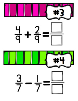 Adding and Subtracting Fractions Google Digital Task Cards