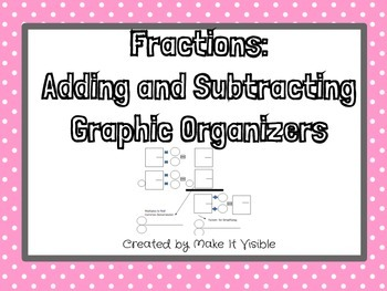 Adding and Subtracting Fractions Graphic Organizers