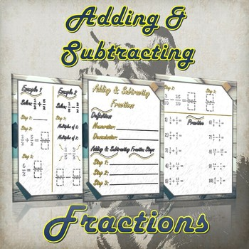 Adding and Subtracting Fractions - (Guided Notes and Practice)