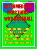 Adding and Subtracting Fractions Individual Baseball Game