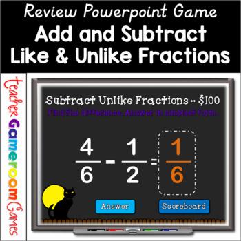 Fraction Jeopardy Teaching Resources | Teachers Pay Teachers
