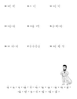 Adding and Subtracting Fractions Joke Worksheet