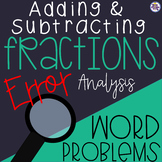 Adding and Subtracting Fractions Like Denominators Error A