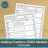 Adding and Subtracting Fractions Like Denominators Using M