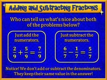 Adding and Subtracting Fractions Made Easy (PowerPoint Only)