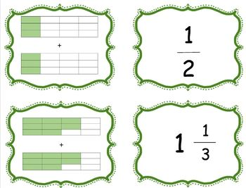 Adding and Subtracting Fractions Matching Cards