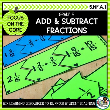 Adding and Subtracting Fractions with Unlike Denominators- Math Center Activity