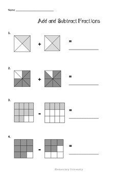 Adding and Subtracting Fractions, Math SOL 3.7