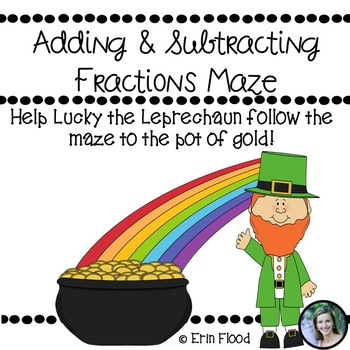 Saint Patrick's Day Adding and Subtracting Fractions Maze