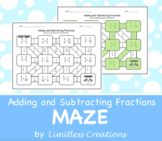 Adding and Subtracting Fractions Maze