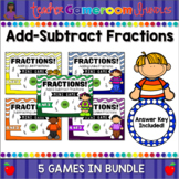 Adding and Subtracting Fractions Mini Game Bundle