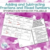Adding and Subtracting Fractions Notebook Foldable