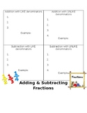 Adding and Subtracting Fractions-Notes Template