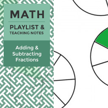 Adding and Subtracting Fractions - Playlist and Teaching Notes