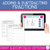 Adding and Subtracting Fractions Worksheets and Boom Decks