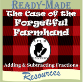 Adding and Subtracting Fractions Puzzle Mystery Activity