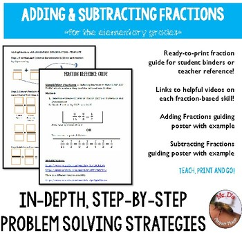Adding and Subtracting Fractions Resource