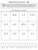 Adding and Subtracting Fractions - Riddle