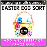Easter Math Game - Adding and Subtracting Fractions Same Denominators